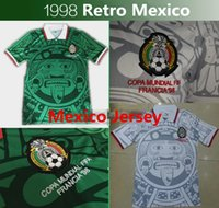 Wholesale Retro World Cup Mexico Soccer Jersey Top Thai quality