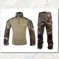 Cheap Gen2 Combat BDU Uniform Shirt Pants With Elbow Knee Pads Emerson Gear Airsoft Military BDU Durable Material EM6974 Woodland WL