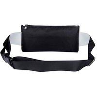 Wholesale 2016 New Arrival Unisex High Quality Two Small Zipper Patchwork Message Bag Women Men Waist Bag Fashion Bag