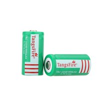 Wholesale TangsFire High Quality V Rechargeable Li ion Battery mAh Rechargeable Batteries Green for flashlights