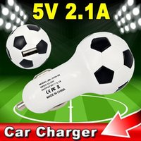 au football - World Cup Football USB Car Charger V A Soccer Ball Design Power Adapter For Samsung S3 S4 S5 Note HTC