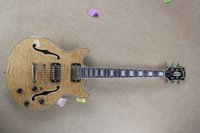 Wholesale 2016 style S335 Figured Jazz electric guitar Natural color hollow guitar Chrome hardware