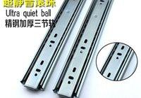 Wholesale A Yi Yun drawer track three rail thickened hydraulic damping mute slide rails Hardware Accessories