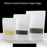 bag of coffee beans - Matte Windows White Kraft Paper Self Ziplock Bags Food bag Seeds Tea coffee powder Coffee beans bag a variety of sizes