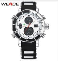automatic alarm watches - 2016 NEW WEIDE Men Sports Watches Waterproof Military Quartz Digital Watch Alarm Stopwatch Dual Time Zones Brand New relogios masculinos