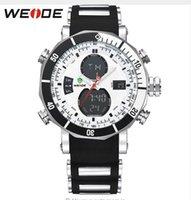 automatic alarm watch - 2016 NEW WEIDE Men Sports Watches Waterproof Military Quartz Digital Watch Alarm Stopwatch Dual Time Zones Brand New relogios masculinos