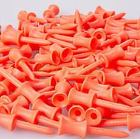Wholesale 100pcs MM Plastic Orange Golf castle ball Tees Golfer Club Practice Accessory Sports