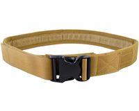 web belt - 2 quot Load Bearing Men Belt Sport Nylon Web Belt Paintball Camping Outdoor CS Sport Heavy Duty Waist Belt Hunting Accessories
