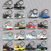 Wholesale Fashion Fan Souvenirs Basketball Shoes Keychain Sneakers Key Chain Key Rings Jump Man generation PVC Keychains Color Available