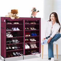 Wholesale US Stock Portable Home Shoe Rack Shelf Shoe Storage Closet Organizer Cabinet Layer Grid
