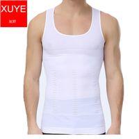 Wholesale Men s sexy Slimming Body Shaper loose bear Corset Belly Underwear men sport Vest pro tight Compression tank top shapers