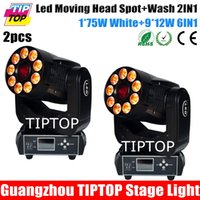 Wholesale Freeshipping x TP L6 K2 x75W White Spot W IN1 RGBWA UV Wash IN1 Led Moving Head Light Full Color Display Channels