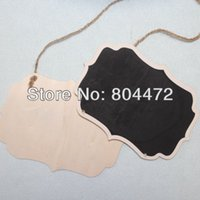 big chalk - 50x BIG SIZE18x13cm Fancy Shape Hanging kitchen blackboard Notice chalk board with Rope for Party Decoration Sign Baby Shower