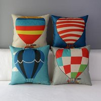 air buoy - 45cm Hot air balloon life buoy Cotton Linen Fabric Throw Pillow inch Handmade New Home Office Bedroom Decoration Sofa Back Cushion