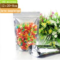 aluminium thickness - 100 mm Thickness x20cm Clear Front Aluminium Bag Stand Bag Zip Lock Stand Up Pouches