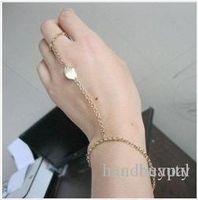 Wholesale New Fashion accessories costume Jewelry gold Leaf Anklet Bracelet metal leaf Ring link chain Bracelet Anklet RJ676 dd