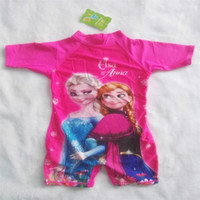 childrens wear - Frozen Swimming Wear Ice And Snow Country Conjoined Pink One Piece Outfit Kids Swimsuits Childrens Swimwear Girls Are Cute Cartoon