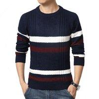 best knitwear - Sweater Pullover Men Winter Brand Rib Bottom Pendulum O Neck Wool Knitwear Men Casual Sweater Plus Size Best Quality