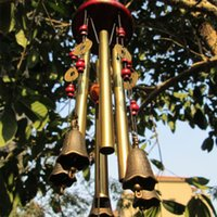 Wholesale Newly Amazing Tubes Bells Copper Yard Garden Outdoor Living Metal Wind Chimes