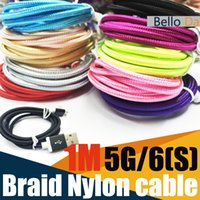 apple iphone p - 1M USB nylon braided cable for metel mold Data Sync charging USB Cord Colors for p hone