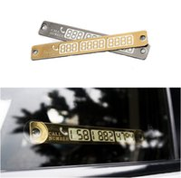 Wholesale Temporary Car Parking Card Telephone Number Card Notification Night Light Sucker Plate Car Styling Phone Number Card