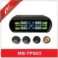 Wholesale Wireless solar Tire Pressure Monitoring System with Solar Power Panel display the Pressue and Temperature bluetooth TPMS