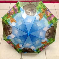 Wholesale Zootopia kids umbrella new children cartoon zootopia nick judy Transparent Long Handle Umbrella kids gifts factory sale