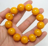 ball and chain leather necklace - Natural amber bracelets jade bracelet wax epilation old yellow chanterelles ball loose beads mm male and female models authentic