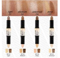 army light shade - 2016 New arrival NYX Wonder stick highlights and contours shade stick Light Medium Deep Universal free stock shipping