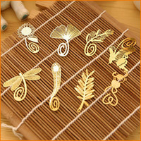 Wholesale Metal Bookmark Vintage butterfly flowers feather Bookmark Paper Clip for Book Mark Notes Types Available