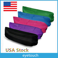 backpacking usa - USA Stock Colors Waterproof Inflatable Sofa Louanger Chairs Air Sleep Beds Lay Bag Camping Outdoor Beach Pads Couch AIR BAG SLEEP DHL p