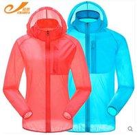 Gros-Chaota 1018 Séchage rapide Anti-UV étanche Vent Pluie Protection ultra-mince veste de peau pour hommes en plein air Femmes Cyclisme Jersey
