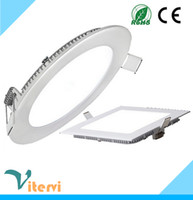 Wholesale square round LED panel light w w w w w LED ceiling light AC85 V Energy saving indoor downlight