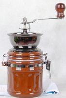 Wholesale top quality adjustable manual coffee grinder maker lid sealed coffee bean grining machine portable fancy coffee grinder