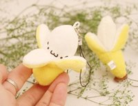 kawaii - Kawaii cm Yellow Banana Plush Stuffed Banana Toy Doll Phone Pendant Charm Strap Lanyard Keychain