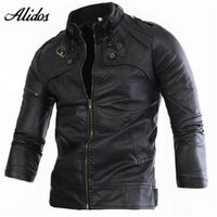 Wholesale Fall High Quality XL Leather Jacket Men Leather Jacket jaqueta de couro masculina Sheepskin Coat Fashion Motorcycle Jacket Coat mjk3