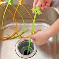 Wholesale Folding Pipe Cleaner Cleaning hook sink bathroom sewer floor drain dredge device small tools House Creative PP Cleaning Hook