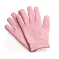 Wholesale Pink Gel Gloves Moisturizing Gloves whitening anti aging moisturizing exfoliating baby hand care Soften Repair Cracked Skin