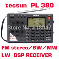 Wholesale Tecsun PL PL380 radio Digital PLL Portable Radio FM Stereo LW SW MW DSP Receiver very good