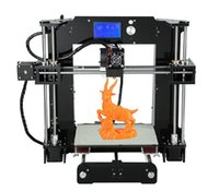 Cheap 2016 High Quality Upgraded industrial 3D printer precision large-sized 3-dimensional DIY kit With 10m Filament Aluminum Hotbed LCD Free DHL