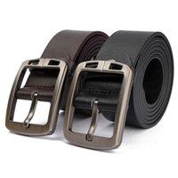 Wholesale Hot Fashion Men Faux Leather Belt Men s Business Style Cowboy Waist Strap Alloy Buckle Male Long Straps Color Black Brown