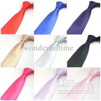 Wholesale 10CM inch Mens Plain Color Necktie Neck Ties