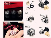 Wholesale 10 style BEIER Fashion vintage jewelry stainless steel ring ring men domineering personality Satan Pentacle Rams