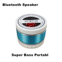 Wholesale Wireless Bluetooth speaker HY BT128 Portable Bluetooth speaker with a call multifunction Audio Player LoudSpeakers With TF Card FM Radio