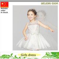 achat en gros de nouvelles robes de filles de noël-2016 Fleur Robes Filles Anniversaire Fête Robes de Noël Enfants Fille Robes de soirée nouvelle arrivée Livraison gratuite