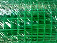 Wholesale PVC coated welded wire mesh welded wire netting green powder coating surface mx30m welded fence