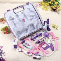 Wholesale Kids Children Pretended Doctor s Nurse Medical Play Set Carry Case Kit Roll Play Toy Gift ccl