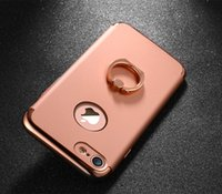 Wholesale 3in1 Degree Rotational Ring Kickstand Electroplating Hard Back Case Cover for iPhone7 iPhone Plus ORGINAL