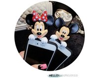 Wholesale Korean version of Mickey and Minnie Cute Couple Models Silica Soft Shell Mobile Phone Models
