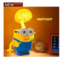 Wholesale New Arrival Despicble ME Lamp Cartoon Minions Night Light Portable Lanterns Study Lamps Money Pot Multifuntion For Children Baby Sleep